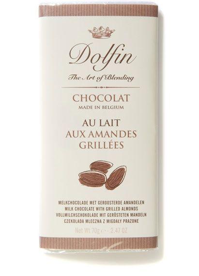 Dolfin Vollmilchschokolade mit gerösteten Mandeln