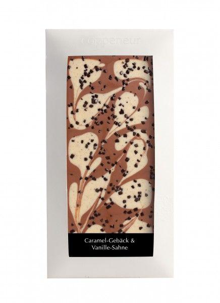 Coppeneur Karamelgebäck& Vanille- Sahne Cuvee- Schokolade 85g Tafel