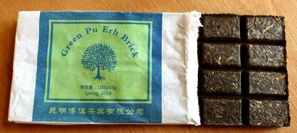 Pu Erh Brick grün 100g Tafel