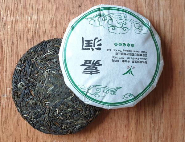 Pu Erh Beeng Cha 100g- Teekuchen grün