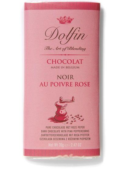 Dolfin Zartbitterschokolade mit Rosenpfeffer