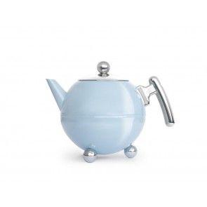 Duett doppelwandige Teekanne 1,2 Liter blau