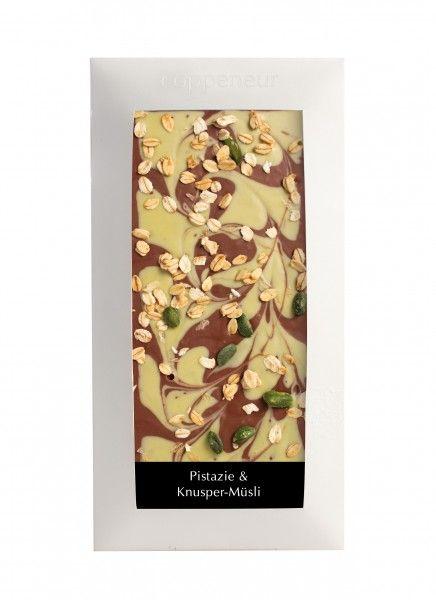 Coppeneur Pistazie und Knusper- Müsli Cuvee Schokolade 85g Tafel